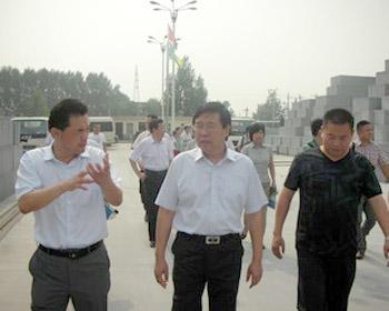 濮阳市市委常委、市委宣传部长徐兰峰等一行莅临我司视察