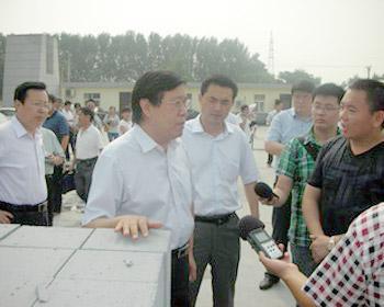 濮阳市市委常委、市委宣传部长徐兰峰等一行莅临我司视察1